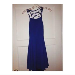 Good Deeds Royal Blue Lace-Up Dress